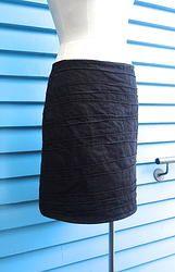 Denim Pin tuck skirt