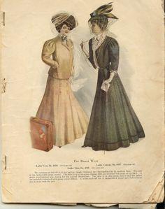 from New Idea Woman's Magazine 1908- street wear.