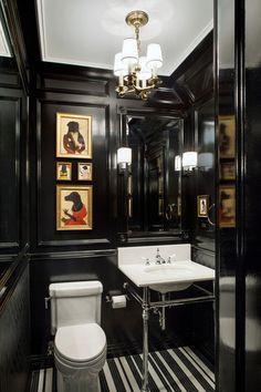 gentlemans club decor downstairs loo - Google Search