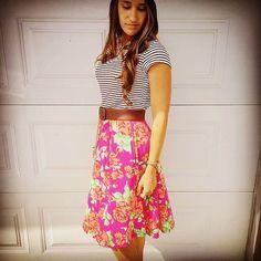 LuLaRoe Madison Skirt with Classic Tee. https://www.facebook.com/groups/LuLaRoebyKatieStoddard/
