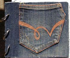 Interesting jean pocket shape