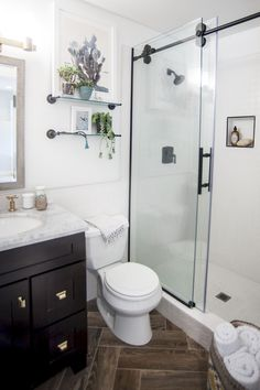adorable small bathroom renovation ideas on apse co home. Small Bathrooms Makeover Bathroom Makeover Latest New Mirror To Replace The Builder. Small Bathroom With Shower, Bathroom Design Small, Simple Bathroom, Bathroom Ideas, Shower Ideas, Narrow Bathroom, Bathroom Mirrors, Bathroom Cabinets, White Bathroom