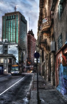 Old Town Street - HDR Photo