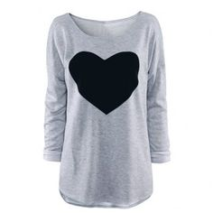 SHARE & Get it FREE | Women's Heart Pattern T-Shirt Long Sleeve Crew Neck TopsFor Fashion Lovers only:80,000+ Items·FREE SHIPPING Join Dresslily: Get YOUR $50 NOW!