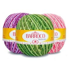 Barbante Barroco Multicolor 400g Crochet Carpet, Strands, Throw Pillows, Products