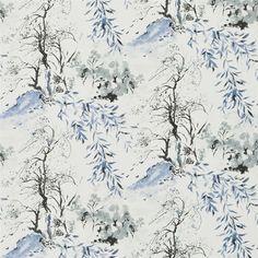 winter palace - indigo wallpaper   Designers Guild PDG651/03