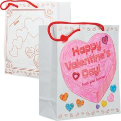 Ready-to-Decorate™ Collect And Carry Valentine's Day Bags are excellent if your students travel from class to class throughout the day