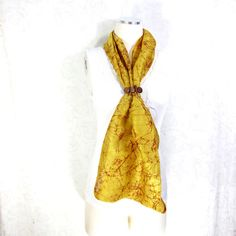 Yellow Silk Scarf Sari Silk Infinity Scarf Womens Scarf Fall Scarf... ($18) ❤ liked on Polyvore featuring accessories, scarves, tube scarf, loop scarves, infinity scarf, silk shawl and lightweight scarves