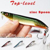 Top - niveau 18 g 25 g de zinc coloré Spoon métalliques leurres pêche aux leurres marque dur Bait eau douce basse doré Crappie Fishing Tackle