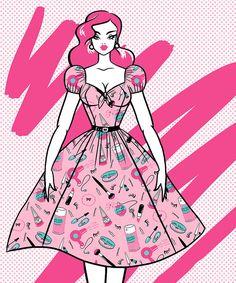 PRE-ORDER  Vixen Swing Dress in Vintage by VixenbyMichelinePitt