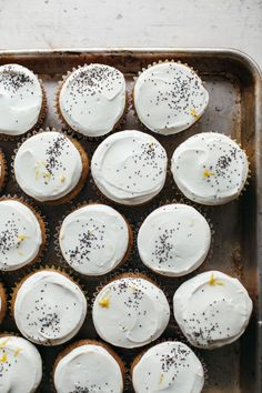 Maple tahini cupcakes labneh frosting | My Name Is Yeh