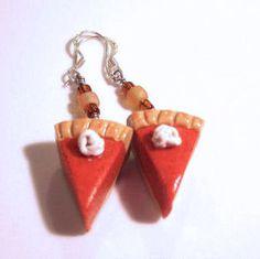 Pumpkin Pie EarringsSterling Sliver Hooks by adcdmc on Etsy, $10.00