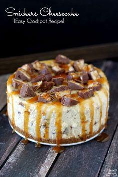 Homemade Snickers Cheesecake
