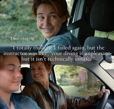 tfios I love the noise he makes in the movie