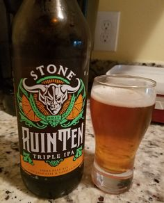 "Stone RuinTen 2017 is a 10.8 ABV 110 IBU ""Triple"" IPA, hops include Magnum, Citra & Centennial. The appearance is orange amber and the nose citrus hop. The flavor is that sweet malt and citrus hop but utterly dominated by vanilla bean, which doesn't come across on the nose near as much as the taste. Mouthfeel is a bit thick and creamy. That vanilla bean is a particularly interesting note and reaches a strength just shy of being unpalatable and dwarfs the huge hop presence."