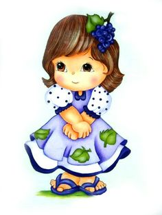 alphabets filles - Page 10 Tole Painting, Fabric Painting, Pinterest Pinturas, Alphabet, Pintura Country, Country Paintings, Cute Illustration, Big Eyes, Cute Kids