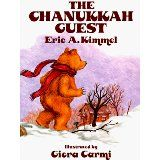 """""""The Chanukkah guest"""" by Eric A. On the first night of Chanukkah, Old Bear wanders into Bubba Brayna's house and receives a delicious helping of potato latkes when she mistakes him for the rabbi. Diy Hanukkah, Feliz Hanukkah, Christmas Hanukkah, Hannukah, Kwanzaa, Christmas Crafts, Holidays Around The World, H Design"""
