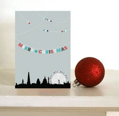 London Christmas card by DickensInk on Etsy