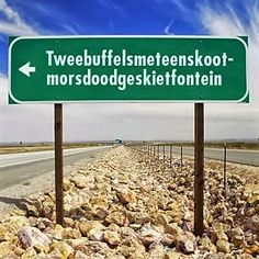Tweebuffelsmeteenskootmorsdoodgeskietfontein letters) is a farm in the North West province of South Africa, located about 200 km west of Pretoria and 20 km east of Lichtenburg. The name has entered South African folklore. North West Province, Provinces Of South Africa, South Afrika, Out Of Africa, West Africa, My Land, African History, Pretoria, Live