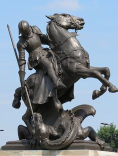 St George and the Dragon Statues - Bob Speel's Website