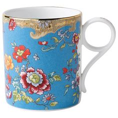 432f8d458a9 Wedgwood Archive Collection Turquoise Floral Mug at John Lewis   Partners