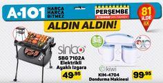 06 Temmuz 2017 A101 bu perşembe gününden itibaren tüm a101 mağazalarında gelen ürünler arasında Sinbo SBG 7102A Elektrikli Ayaklı Izgara ve Kiwi KIM-4704 Dondurma Makinesini sizler için inceledik. Sinbo Elektrikli Ayaklı Izgara bence tüm evlerde olmazsa olmazların arasında yer alması gerekir...