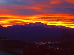 Pikes Peak Sunset | Recent Photos The Commons Getty Collection Galleries World Map App ...
