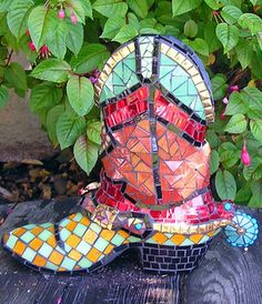 Mosaic cowboy boot - very cool