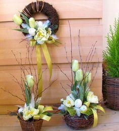 Jarní sada s tulipány & Zboží prodejce salvia Easter Flower Arrangements, Easter Flowers, Floral Arrangements, Cemetery Flowers, Church Flowers, Frame Wall Decor, Easter Wreaths, Easter Crafts, Happy Easter