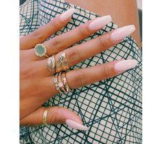 long nails #nailart pretty pink and finger bling #pretty #fashion