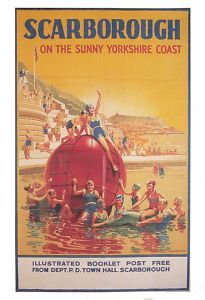YORKSHIRE - Scarborough, North Yorkshire - Vintage Travel Poster