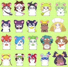 Pokémon x Hamtaro! Pokemon 20, Black Pokemon, Pokemon Funny, Pokemon Memes, Pokemon Stuff, Hamtaro, Fire Emblem, Pokemon Crossover, Kawaii