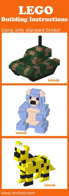 Check out our Lego Building Instructions app, require only STANDARD bricks! Reuse the Lego bricks you already own at home, and have a great time building together with your family. Available for iPhone and iPad. Free download at appsto.re/us/WRyX6.i #bricksir www.bricksir.com