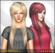 """Spring4Sims » """"Scene Queen"""" — Peggyzone 4233 Hair Overhaul by Ace Creators"""