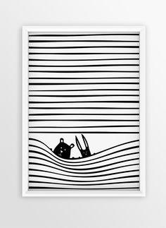 Nursery Print Design for Walls | Stripes Illustration | FRIENDS