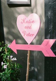 Valentine's day wedding sign decoration, Valentine's day wedding decoration in 2014, pink heart signs for wedding #wedding  #decoration www.loveitsomuch.com