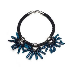 DARK DEPTHS oversized coral necklace. Deep indigo. por YAYOIjewelry, €260.00