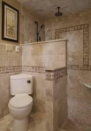 Mediterranean Home doorless shower Design Ideas, Pictures, Remodel and Decor Corner toilet! Master Bathroom Shower, Small Bathroom With Shower, Tiny House Bathroom, Bathroom Design Small, Basement Bathroom, Bathroom Ideas, Bathroom Designs, Tiny Bathrooms, Bathroom Remodeling