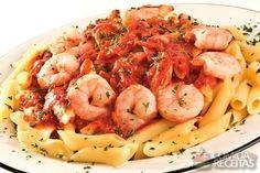 Receita de Penne com molho de camarão em receitas de massas, veja essa e outras receitas aqui!