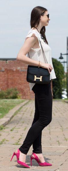 Black Hermes Constance bag. | HERMES bags | Pinterest | Hermes ...