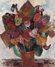 Frits Van den Berghe – Bloemen, 1931; Olieverf op doek, 74x62 cm | Galerij Oscar De Vos