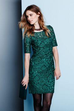 Groene jurk met kant