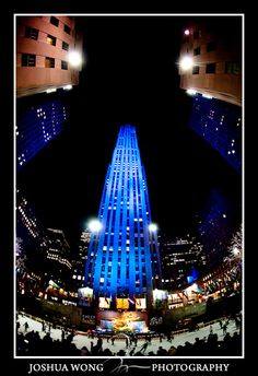 Rockefeller Center, NYC.  Light it up Blue in honor of Autism Awareness