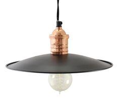 "Závěsné svítidlo ""Sigge"", Ø 27, výš. 10 cm Ceiling Lights, Lighting, Pendant, Home Decor, Copper, Metal Roof, Ceiling Light Fixtures, Black Metal, Cozy Homes"