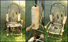 Dream Catcher Chair No.14 Mini Recycled Tree Limb Furniture
