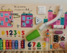Busy Sensory Preschool board Montessori toddler by LinearaHandMade