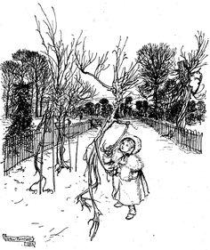 Arthur Rackham illustrations from Peter Pan in Kensington Gardens