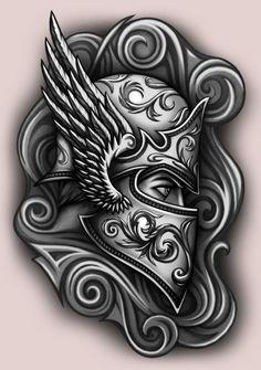 Tattoo On, Mandala Tattoo, New Tattoos, Cool Tattoos, Warrior Tattoos, Viking Tattoos, Design Tattoo, Tattoo Designs, Tattoo Sketches
