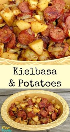 kielbasa and potatoes - easy Kielbasa recipeYou can find Kielbasa recipes and more on our website.kielbasa and potatoes - easy Kielbasa recipe Easy Kielbasa Recipes, Smoked Sausage Recipes, Easy Potato Recipes, Pork Recipes, Cooker Recipes, Healthy Recipes, Polish Sausage Recipes, Polish Keilbasa Recipes, Crockpot Keilbasa Recipes