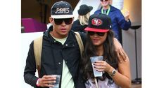 Joey Essex shows off his festival style at the muddy fields of Wireless with Samantha Faiers.